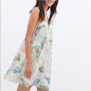 Zara koi fish babydoll dress